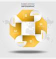 business infographics design elements vector image