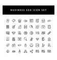 business seo icon set with black color outline vector image vector image
