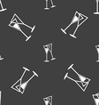 champagne glass icon sign Seamless pattern on a vector image vector image