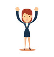 cheerful business woman vector image
