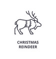christmas reindeer line icon outline sign linear vector image