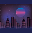 cityscape retro style vector image