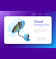 cloud computing technology isometric flat vector image