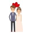 Couple of newlyweds frame decorative vector image