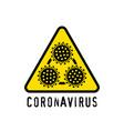 danger symbol virus vector image vector image