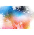 detailed colourful watercolour texture background vector image vector image