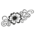 Doodling flower in tattoo style vector image vector image