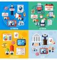 Elections And Voting Flat 2x2 Design Concept vector image vector image
