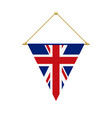 english triangle flag hanging vector image vector image