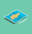 explore singapore maps with isometric style and vector image vector image
