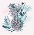 fashion tropical with pineapple vector image vector image
