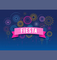 fiesta fireworks and celebration poster design vector image