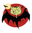 Flying Vampire By Bats And A Full Moon vector image vector image