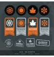 four seasons symbol for stamp label tag sticker vector image vector image