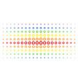 gear spectral halftone effect vector image vector image