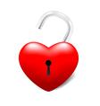Grossy UnLocked Heart vector image vector image