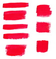 hand-drawing red textures brush strokes in vector image vector image