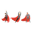 handsome man in formal suit and red cape or cloak vector image vector image