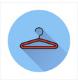 hanger icon isolated on circle background vector image vector image