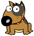 Happy Brown Bull Terrier Sitting vector image vector image