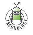 logo robot with two antennas vector image vector image