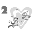 Love birds cartoon vector image vector image