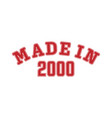 made in 2000 lettering year birth or a vector image vector image