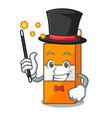 magician package juice mascot cartoon vector image vector image
