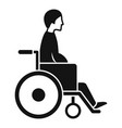 man in wheelchair icon simple style vector image vector image