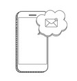 new email on the smartphone screen notificatio vector image vector image