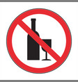 no drink the abstract sign vector image vector image