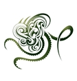 Octopus shape vector image vector image
