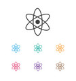 of education symbol on atom vector image