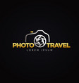 photography travel logo symbol icon vector image vector image