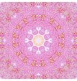 Pink abstract round seamless pattern vector image vector image