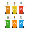 realistic 3d detailed trash bags set vector image vector image