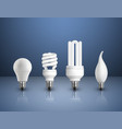 realistic modern bulbs collection vector image