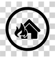 Realty Fire Damage Flat Rounded Icon vector image vector image
