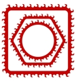 Red Frames vector image vector image