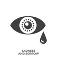 sadness and sorrow glyph icon vector image vector image