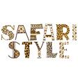 Safari style vector image