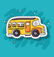 school bus transportation patches design vector image vector image