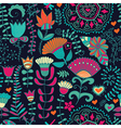 Seamless floral pattern Copy square to the side vector image vector image