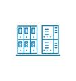 server box linear icon concept server box line vector image vector image