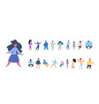 set man woman character diversity poses isolated vector image