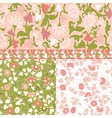Set of Floral Seamless Borders Frames vector image vector image