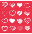 Set of hearts vector image vector image
