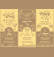 set of isolated stickers labels for clover honey vector image