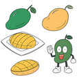 set of mango vector image