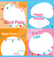 set of multicolored festive photo frames for party vector image
